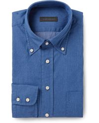 Thom Sweeney Cotton-Chambray Shirt - Lyst