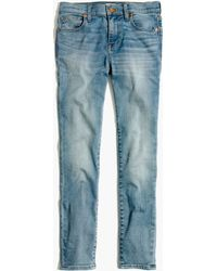 Madewell High Riser Skinny Skinny Crop Jeans In Mazzy Wash - Lyst