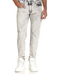 Versace Jeans Stonewashed Straight-Leg Jeans - Lyst