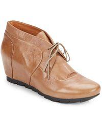 Gentle Souls Barnderossa Leather Wedge Boots - Lyst