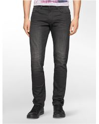 Calvin Klein | Jeans Slim Leg Distressed Ink Wash Jeans | Lyst