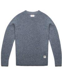 WOOD WOOD Stone Blue Shetland Wool Sweater blue - Lyst