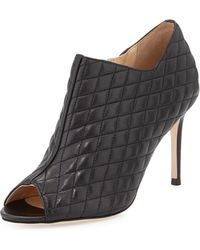 Cole Haan Annabel Quilted Peep-toe Bootie - Lyst
