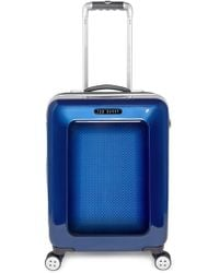 Ted Baker Men'S Small Herringbone Rolling Suitcase - Blue (22 Inch) - Lyst
