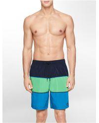 Calvin Klein White Label Multi Colorblock Swim Trunks - Lyst