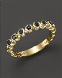 Lagos - 18k Gold And Sapphire Stackable Ring - Lyst