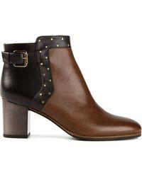 L'Autre Chose Colour Block Studded Boots - Lyst