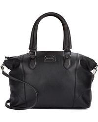 Calvin Klein Pebbled Leather Satchel - Lyst