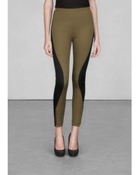 & Other Stories Colourblock Trousers - Natural