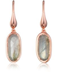 Monica Vinader Vega Drop Earrings - Pink