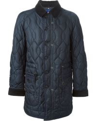 Junya Watanabe Quilted Elbow Patched Coat - Lyst