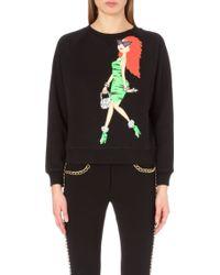 Moschino Cheap & Chic Flintstones Girl Cotton-jersey Sweatshirt - Lyst