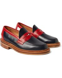Thom Browne Leather Penny Loafers - Lyst