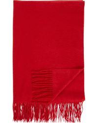 Sofia Cashmere Red Cashmere Throw - Lyst