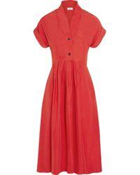 Title A - Monkey Silk-Satin Twill Midi Dress - Lyst