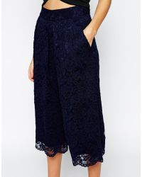 TFNC London - Lace Culottes - Lyst