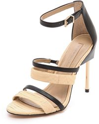 BCBGMAXAZRIA Deanna Strappy Sandals Parfaitblack - Lyst