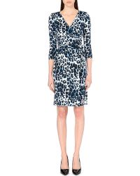 Diane von Furstenberg Julian Wrap Jersey Dress - Lyst