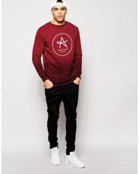 Antioch Longline Sweatshirt In Dip Dye - Black