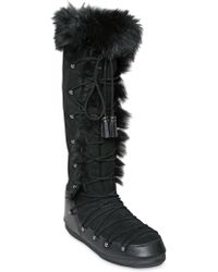 Emilio Pucci - 20mm Shearling Snow Boots - Lyst