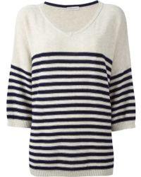 Roberto Collina Striped Sweater - Lyst