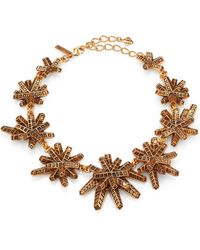 Oscar de la Renta Anemone Graduated Necklace - Lyst