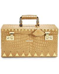 Eddie Borgo - Crocodile-embossed Leather Jewelry Box/goldtone - Lyst