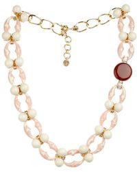 Valentina Brugnatelli Ornella Swarovski & Crystal Necklace pink - Lyst