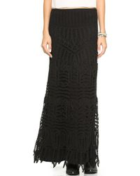 Twelfth Street Cynthia Vincent - Lace Maxi Skirt Dress Black - Lyst