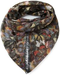 Valentino Butterfly Print Scarf - Lyst
