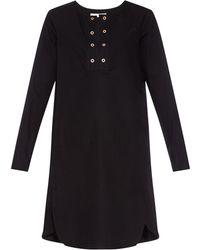 See By Chloé Eyelet-Detail Cotton-Poplin Dress - Lyst
