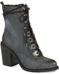 Luxury Rebel - Mara Heeled Combat Boots - Lyst