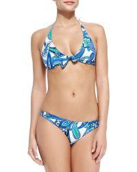 Etro Paisley-Print Halter Bikini - Lyst