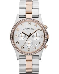 Marc By Marc Jacobs Women'S Chronograph Henry Two-Tone Stainless Steel Bracelet Watch 40Mm Mbm3106 - Lyst