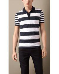 Burberry Contrast Stripe Polo Shirt - Lyst