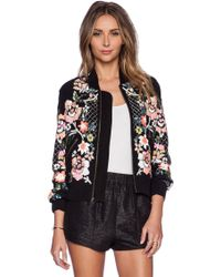 Needle & Thread Floral Circle Bomber - Lyst