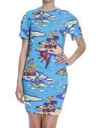 Love Moschino Dress Woman Moschino multicolor - Lyst