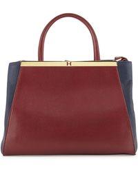 Halston Heritage Colorblock Leather Satchel - Lyst