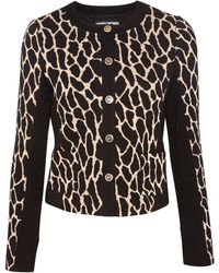 Gerry Weber Animal Knitted Jacket - Black