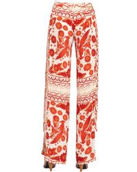 Rebecca Minkoff Hugo Silk Pants - Orange