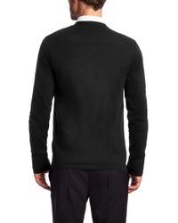 HUGO Cardigan In A Cotton Blend With Silk And Cashmere: 'scardinus' - Black