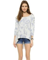 Free People Cloudy Day Pullover - Blue - Lyst
