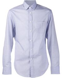 Band Of Outsiders Blue Striped Shirt - Lyst