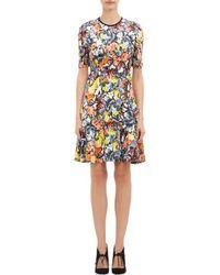 Erdem Floral Jersey Regan Dress - Lyst
