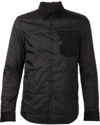 G-star Raw Black Shirt Jacket - Lyst