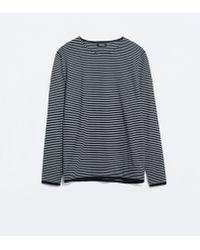 Zara Fine Striped Sweater - Lyst