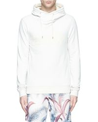 Scotch & Soda Slogan Print Cotton French Terry Hoodie - Lyst
