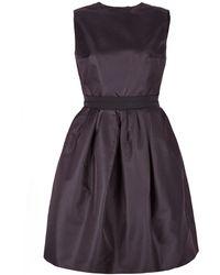 Carven Black Gazar Cocktail Dress - Lyst