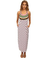 Trina Turk Kon Tiki Covers Long Dress Cove-Up - Lyst