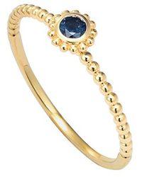 Lagos 'Covet' Stone Caviar Stack Ring blue - Lyst